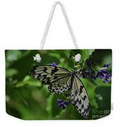 Gorgeous White Tree Nymph Butterfly With It's Wings Spread Weekender Tote Bag