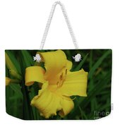 Gorgeous Yellow Daylily In A Garden Blooming Weekender Tote Bag