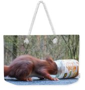 Gorging Squirrel Weekender Tote Bag