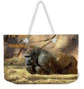 Gorilla Musings Weekender Tote Bag