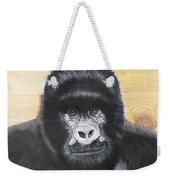 Gorilla On Wood Weekender Tote Bag