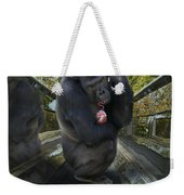 Gorilla With Lollipop Weekender Tote Bag