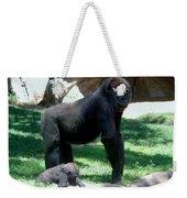 Gorillas Mary Joe Baby And Emonty Mother 6 Weekender Tote Bag