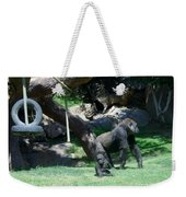 Gorillas Mary Joe Baby And Emonty Mother 7 Weekender Tote Bag
