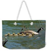 Goslings In A Row Weekender Tote Bag