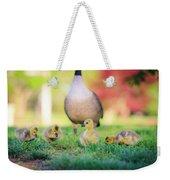 Goslings In The Park Weekender Tote Bag