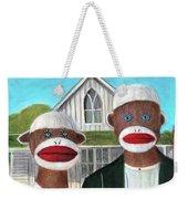 Gothic American Sock Monkeys Weekender Tote Bag