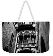 Gothic Bridge In The Gothic Quarter Of Barcelona Weekender Tote Bag