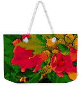 Gouache Painting Flower And Bumble Bee Weekender Tote Bag