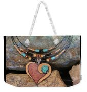 Gourd Heart With Turquoise #h92 Weekender Tote Bag
