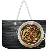 Gourmet Clam And Vegetable Seafood Stew In Spicy Tomato Sauce Weekender Tote Bag