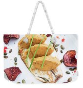 Gourmet Fish Fillet With Chickpea Curry Puree Meal Weekender Tote Bag