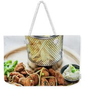 Gourmet Fried Octopus Calamari Style Set Meal With Fries Weekender Tote Bag