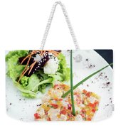 Gourmet Raw Tuna Tartare Ceviche With Mango Lime And Chilli Weekender Tote Bag