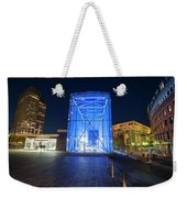 Goverment Center Boston Ma In Blue City Hall Weekender Tote Bag