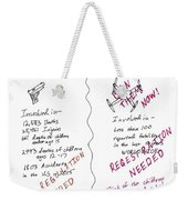 Government Inaction Weekender Tote Bag