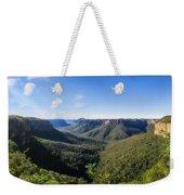 Govetts Leap Lookout Panorama, Australia Weekender Tote Bag