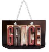 Grace - Antique Letterpress Letters Weekender Tote Bag
