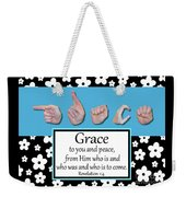 Grace - Bw Graphic Weekender Tote Bag