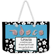 Grace Spanish - Bw Graphic Weekender Tote Bag
