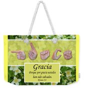 Grace Spanish Weekender Tote Bag