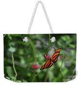 Graceful Oak Tiger Butterfly Around Pink Flowers Weekender Tote Bag