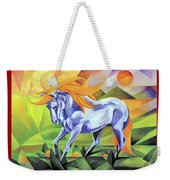 Graceful Stallion With Flaming Mane Weekender Tote Bag