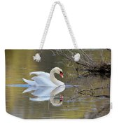 Graceful Swan Weekender Tote Bag