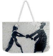 Graffiti Art In Black And White Along Streets Of Valparaiso-chile Weekender Tote Bag