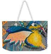 Graffiti Art Of A Colorful Bird Along Street IIn Hilly Valparaiso-chile Weekender Tote Bag