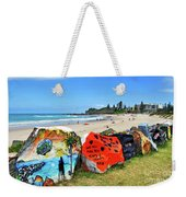 Graffiti At The Beach Weekender Tote Bag