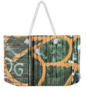 Graffiti Covered Wall Of An Old Abandoned Factory Weekender Tote Bag