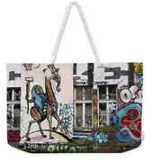 Graffiti On Wall At Metelkova City Autonomous Cultural Center Sq Weekender Tote Bag