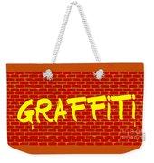 Graffiti Red Wall Weekender Tote Bag