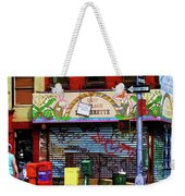 Graffiti Village Store Nyc Greenwich  Weekender Tote Bag