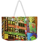 Graffitti On New York City Building Weekender Tote Bag