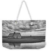 Grain Barn And Sky - Reflection Weekender Tote Bag