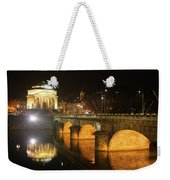 Gran Madre Church By Night In Turin, Italy Weekender Tote Bag