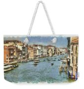 Grand Canal In Venice Weekender Tote Bag