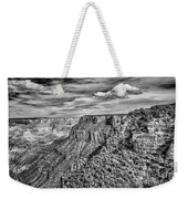 Grand Canyon In Black And White Weekender Tote Bag