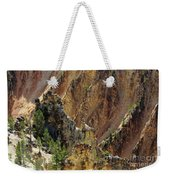 Grand Canyon Of The Yellowstone From North Rim Drive Weekender Tote Bag