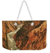 Grand Canyon Of The Yellowstone Vertical Panorama Weekender Tote Bag