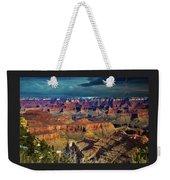 Grand Canyon Storm Weekender Tote Bag