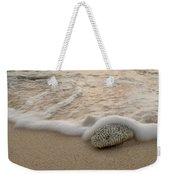 Grand Cayman Beach Coral Waves At Sunset Weekender Tote Bag