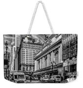 Grand Central At 42nd St - Mono Weekender Tote Bag