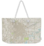 Grand Island Nebraska Us City Street Map Weekender Tote Bag