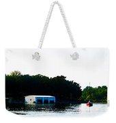 Grand Lake Boat Dock Weekender Tote Bag