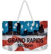 Grand Rapids Mi American Flag Squared Weekender Tote Bag