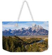 Grand Teton Mountains Weekender Tote Bag