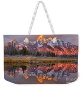 Grand Teton Snake River Sunrise Reflections Weekender Tote Bag